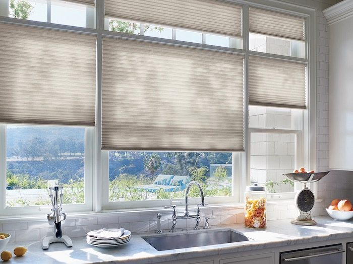 Kitchen window with Cellular Shades